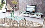 호텔 인기 상품 모로코 텔레비젼 대 짜개진 조각 스테인리스 다리 텔레비젼 테이블 홈 가구