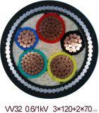 PVC 절연제 PVC/PE 칼집 철강선 기갑 (SWA) 고압선 (0.6-1KV)