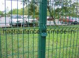 Il recinto di filo metallico, il pannello saldato della rete fissa, PVC ha ricoperto il pannello