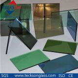 vidro reflexivo do verde do bronze do euro de 4mm para o vidro decorativo