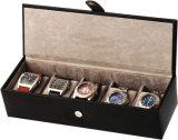 Contenitore di vigilanza in linea della cassa per orologi degli accessori del cuoio del Mens dei fornitori