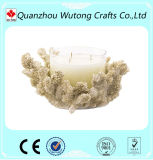 Ручка свечки смолаы держателя для свечи конструкции оптовой темы океана смолаы белая Coral