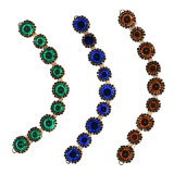 Multi-Color Crystal Beaded Necklace Jewelry com Brooch 0043