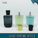 стеклянная бутылка брызга дух 50ml с золотом & черной крышкой