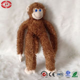 Jouet mou se reposant de singe de peluche de la CE de Brown foncé pour des gosses