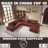 U-Form-Ecken-Leder-Sofa (Lz129)