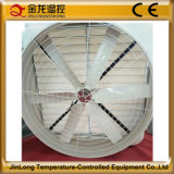 Jinlong 세륨 증명서를 가진 54 인치 벽 또는 Windows에 의하여 거치되는 큰 기류 섬유유리 콘 Tpye 배기 엔진