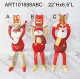 Presente do suporte de frasco do vinho do boneco de neve de Santa, decoração do Asst-Natal 2