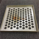 Panneaux de revêtement en aluminium avec la perforation ronde de trous pour l'usage de revêtement de mur