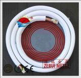 A tubulação do condicionador de ar, isolação de XPE, R410A avaliou o tubo de cobre