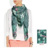 Blumenmuster-Zoll-Schal