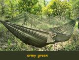 260*140cmの蚊帳が付いている緑のキャンプのハンモックのテント
