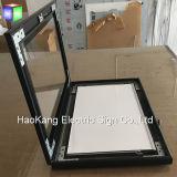 Segno aperto del LED per il blocco per grafici Backlit esterno del manifesto che fa pubblicità al tabellone