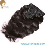 熱い販売の厚いRemyの人間の毛髪はレースの毛のよこ糸を切る