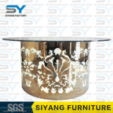 LED-Möbel-Speisetisch-gesetzter runder Tisch-Glasspeisetisch