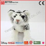 O luxuoso realístico do tigre do animal En71 enchido brinca o tigre branco macio