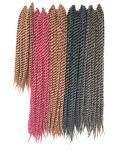 24 trecce ignifughe sintetiche dei capelli del Crochet di estensioni 22strands/Piece #1 dei capelli dell'intrecciatura di torsione di Kanekalon dei capelli di pollice