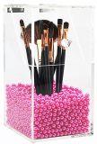 Supporto di spazzola cosmetico acrilico trasparente personalizzato