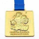 Venda por atacado redonda feita sob encomenda da medalha do espaço em branco do esporte do metal do ouro da concessão do esporte da lembrança da promoção do ofício 3D da liga barata original do zinco