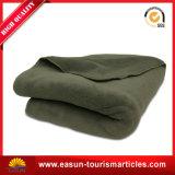 Cobertor deConfeção de malhas qualificado do cobertor de Dubai do cobertor de lãs do exército de Brown