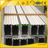 Profil carré rectangulaire en aluminium de Customzied pour le mur rideau