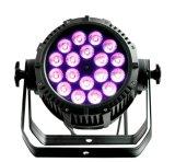 Rasha IP65 extérieur imperméabilisent le projecteur UV de PARITÉ de lumière de PARITÉ de 18*18W 6in1 Rgbaw DEL pour l'usager Powercon d'événement