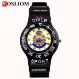 Vs-215 Vosliom preiswerte berühmte Marken-Luxuxmann-Sport-Uhr des Marken-wasserdichte Quarz-Entsprechungs-Silikon-TPU