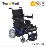 Il potere si leva in piedi in su la sedia a rotelle elettrica con la cinghia di Legrest