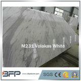 Volakasの優雅なインポートされた白く自然な大理石の平板およびタイル