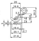알루미늄 문 & Windows를 위한 최고 호사스러운 경첩 Hl6204