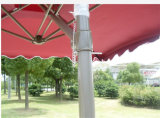 屋外の庭パラソルのテラス折る公園のヤード浜の日曜日のホーム家具