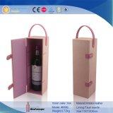 Piloter la boîte simple à vin de Mooncake& de cuir de bouteille de porte