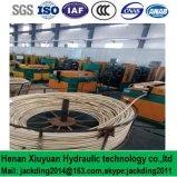 Boyau hydraulique renforcé de tresse de fil d'acier d'en de SAE DIN (ajustage de précision de pipe R2at)