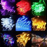 Luzes decorativas ao ar livre coloridas do feriado do diodo emissor de luz