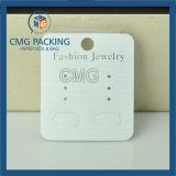 덮는 짜임새 종이를 가진 고품질 귀걸이 전시 카드 (CMG-070)