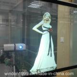 Filme de projetor transparente holográfico para janela de loja