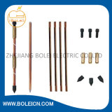 Bonded de cobre Earthing Rod para Lightning Protection System