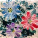 Покрашенная рукой картина цветка Silk бархата пышная