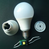 SMD PC + Alumínio 3W / 5W / 7W / 9W / 12W SKD LED Bulb Light
