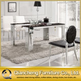Mesa de centro luxuosa moderna do aço do metal da mobília da sala de jantar