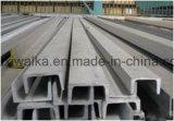 Canal U de acero galvanizado para la decoración