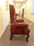 사무실과 홈 사용을%s Throne Chair 바로크식 실제적인 가죽 임금
