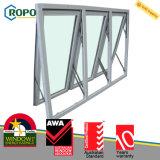 UPVC dreifache Hurrikan-Auswirkung-Glasmarkisen-Fenster