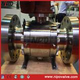 O aço inoxidável forjado flangeou a válvula de esfera do eixo (Q47F)