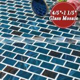青いブレンドの金ライン熱い溶解のガラスモザイク・タイル(BGZ020)