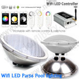 WiFi DEL PAR56 Pool Light, PAR56 Pool Light, Wireless DEL Pool Light, 316 Stainess Pool Light de 18X3w RVB Smart