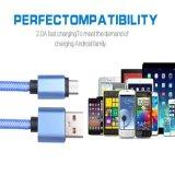 Typ c-männlicher Typ Nylon USB-3.1 spinnt ein USB3.0 USB-aufladenkabel