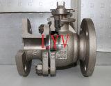 Válvula de esfera flangeada do aço do carbono de 2 PCS