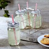 De hete Kruik van het Glas van het Voedsel van de Stijl van de Verkoop Klassieke/de Grote Kruiken van de Metselaar van de Drank met Deksels