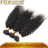 最も売れ行きの良い製品2016の自然で黒いねじれた巻き毛のインドの毛